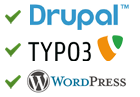 Workshops für Drupal, WordPress, Typo3